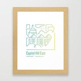 ObviouslyDC-Capitol Hill East Framed Art Print