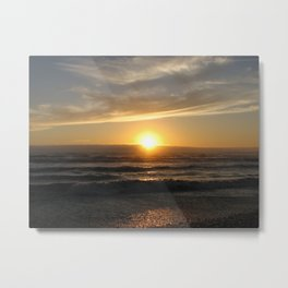 Sunset at Ruby Beach Metal Print