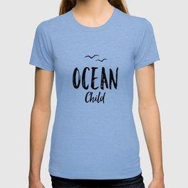 OCEAN CHILD HAND WRITTEN BLACK AND WHITE T-shirt