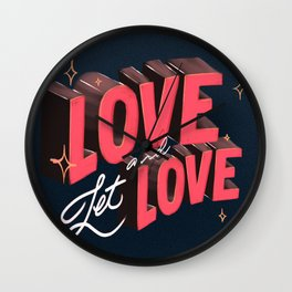 Love & Let Love Wall Clock