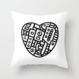 Iron heart (B&W Edition) - PM Throw Pillow