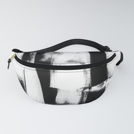 Wedding Night | Abstract Painting | Minimalism | Black And White | Art Print | Home Decor Fanny Pack