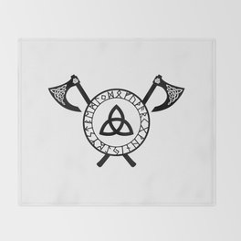 Norse Axe - Celtic Knot Throw Blanket