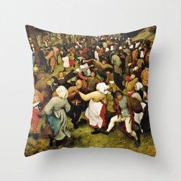 Pieter Bruegel The Elder - The Wedding Dance Throw Pillow