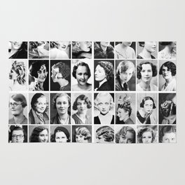 Vintage Portrait Photos Depicting Women's Hairstyles of the 1930s  - © Doc Braham; All Rights Reserv Rug