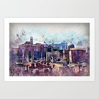 rome Art Prints featuring Rome by jbjart