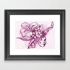Abstract Head Dress Framed Art Print