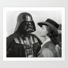 Darth Vader in Casablanca Art Print