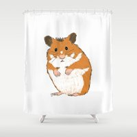 hamster Shower Curtains featuring Hamster by Chris Olson