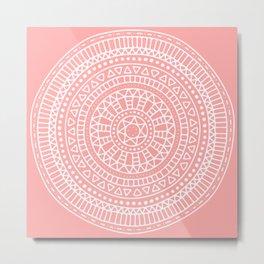 Summer Mandala Metal Print