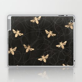 Busy Bees (Black) Laptop & iPad Skin