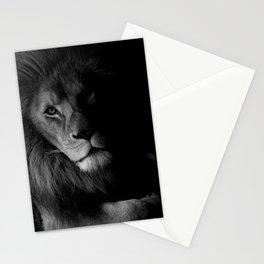 Black & White Lion Stationery Cards