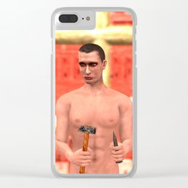 SquaRed: I cannot trust you Clear iPhone Case