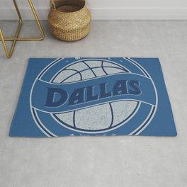 Dallas MFFL basketball royal blue vintage logo Rug