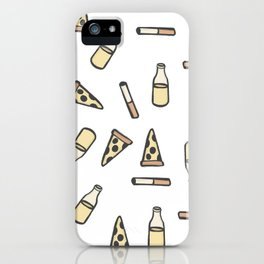 PIZZA, BEER, CIGARETTES iPhone Case