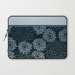 Dahlia Scallops Grey Blue Laptop Sleeve