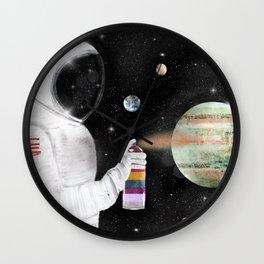 space graffiti Wall Clock