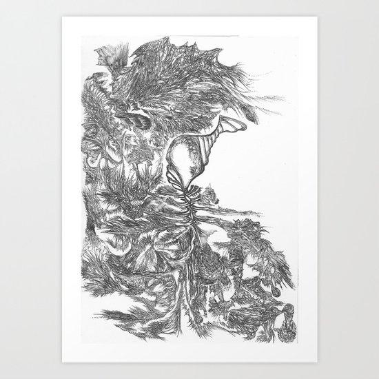 Goat and his Farmer Art Print
