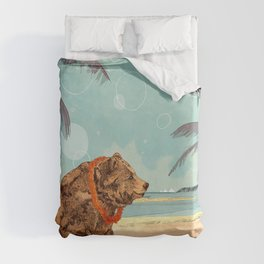 Beach Bear Duvet Cover