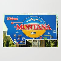 montana Area & Throw Rugs featuring Montana by americansummers