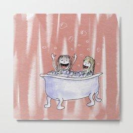 Bubble Bath Metal Print