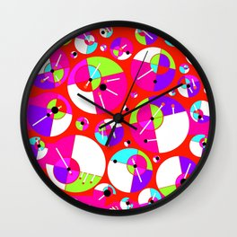 Bubble Red Wall Clock
