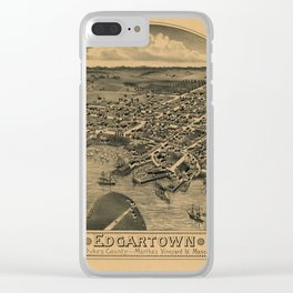 Map Of Marthas Vineyard 1886 Clear iPhone Case