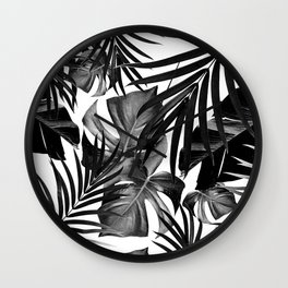 Tropical Jungle Leaves Pattern #10 #tropical #decor #art #society6 Wall Clock