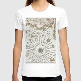 Kaart van de kust van Zweden tussen Kalmar en Stockholm (ca 1580-1583) by Joannes van Doetechum (I) T-shirt