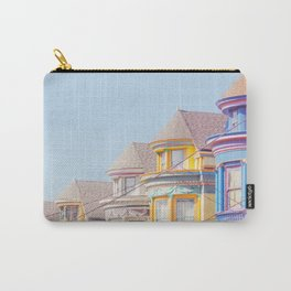 Haight Ashbury Victorian Houses - San Francisco Photography Carry-All Pouch