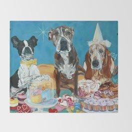 The Last Dessert Dog Portrait Throw Blanket