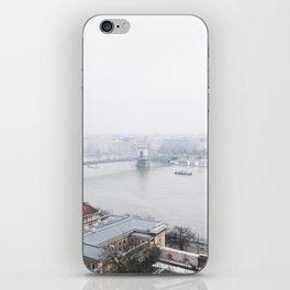 foggy budapest iPhone Skin