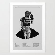 Hannibal Lecter Phrenology Art Print
