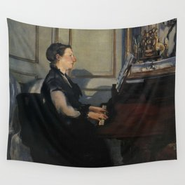 Edouard Manet - Suzanne Manet Playing the Piano Wall Tapestry