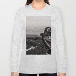 Mountain Tourist Binoculars Black and White Long Sleeve T-shirt
