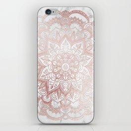 Rose Gold Mandala Star iPhone Skin