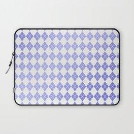 Modern geometric ultraviolet white diamonds patterns Laptop Sleeve