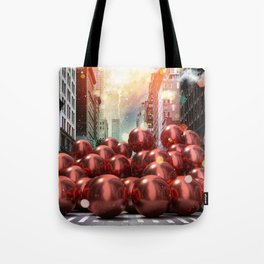 Giant Red Ball Pit NYC Tote Bag