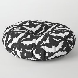 Black and White Bats Floor Pillow