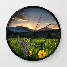 Wildflower Sunrise Wall Clock