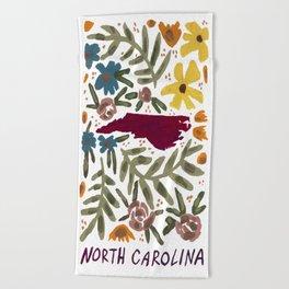 North Carolina + florals Beach Towel