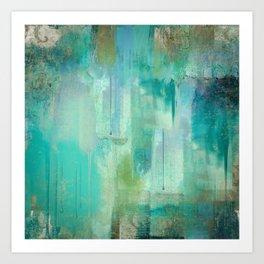 Aqua Circumstance Art Print