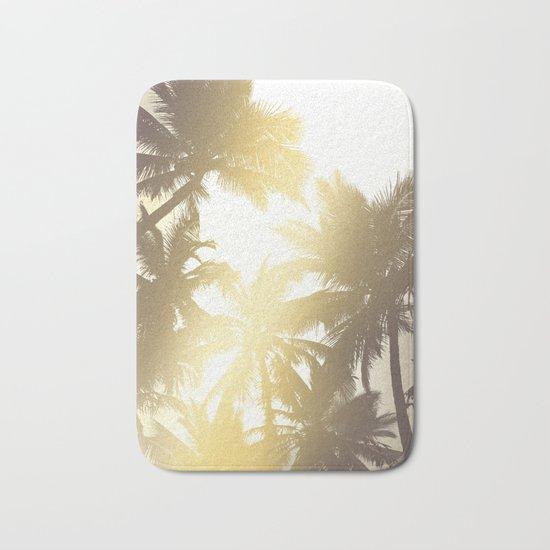 Palm tree print Bath Mat