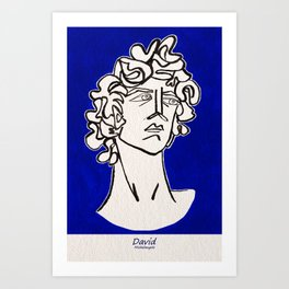 David Michelangelo statue Art Print