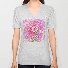 Metaphysical Penguins The Flower Of Love Unisex V-Neck