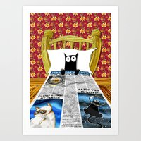 duvet cover Art Prints featuring Duvet Cover by Andrew Hitchen