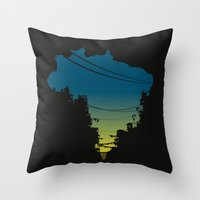 brazil Throw Pillows featuring Brazil by jenkydesign