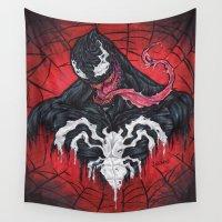 venom Wall Tapestries featuring We Are Venom by Sam Martinez
