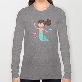 Mermaid Swim Swimming Long Sleeve T-shirt