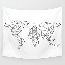 Geometric world map Wall Tapestry